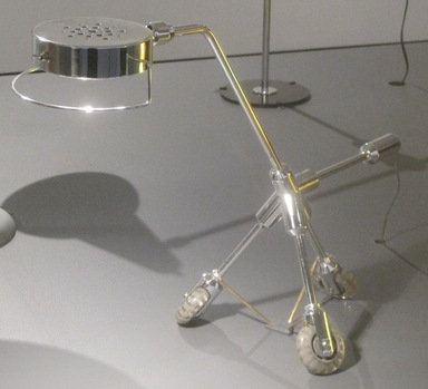 Harry Allen (American, born 1964). <em>Kila Lamp</em>, 2005. Chromed plastic, plastic, glass, metal, 18 1/4 x 24 x 8 1/2 in. (46.4 x 61 x 21.6 cm). Brooklyn Museum, Gift of Harry Allen & Associates, 2006.55. Creative Commons-BY (Photo: Brooklyn Museum, CUR.2006.55.jpg)