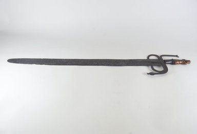 Kongo. <em>Sword</em>. Iron, ivory, 34 in. (86.4 cm). Brooklyn Museum, Gift of Dr. Werner Muensterberger and Michael Ward, 2006.66.10. Creative Commons-BY (Photo: Brooklyn Museum, CUR.2006.66.10_top_PS5.jpg)