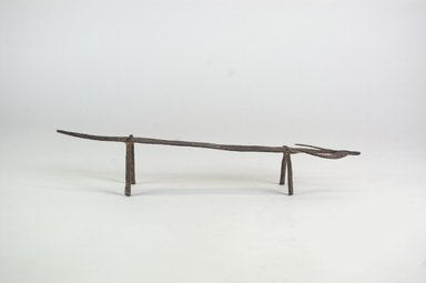 Bamana. <em>Bovine Form</em>, 19th century (possibly). Iron, 1 9/16 x 7 1/2 in., 13.2 lb. (4 x 19 cm, 6kg). Brooklyn Museum, Gift of Dr. Werner Muensterberger and Michael Ward, 2006.66.1. Creative Commons-BY (Photo: Brooklyn Museum, CUR.2006.66.1_PS5.jpg)