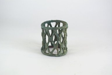 <em>Bracelet</em>. Copper alloy, 3 9/16 x 2 15/16 in. (9 x 7.5 cm). Brooklyn Museum, Gift of Dr. Werner Muensterberger and Michael Ward, 2006.66.21. Creative Commons-BY (Photo: Brooklyn Museum, CUR.2006.66.21_PS5.jpg)