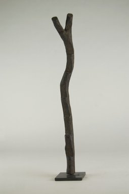 Dogon. <em>Miniature Ladder</em>, 19th century. Wood, 14 15/16 x 2 3/4 x 2 3/8 in. (38 x 7 x 6 cm). Brooklyn Museum, Gift of Michael Ward, 2006.67.8. Creative Commons-BY (Photo: Brooklyn Museum, CUR.2006.67.8_PS5.jpg)