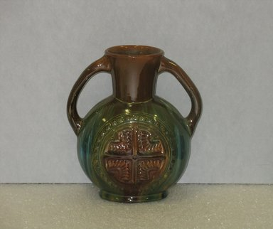 Christopher Dresser (English, 1834-1904). <em>Vase</em>, ca. 1880. Glazed earthenware, 8 x 7 1/4 x 4 in. (20.3 x 18.4 x 10.2 cm). Brooklyn Museum, Gift of Paul F. Walter, 2007.10.11. Creative Commons-BY (Photo: Brooklyn Museum, CUR.2007.10.11.jpg)