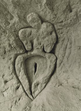 Ana Mendieta (American, born Cuba, 1948-1985). <em>Untitled (Guanaroca [First Woman])</em>, 1981/1994. Gelatin silver photograph, 53 1/2 x 39 1/2 in. (135.9 x 100.3 cm). Brooklyn Museum, Gift of Stephanie Ingrassia, 2007.15. © artist or artist's estate (Photo: Photograph courtesy of Galerie Lelong, New York, CUR.2007.15.jpg)