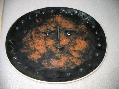Madoura Potter. <em>Platter</em>, 1947-1971. Glazed earthenware, 1 1/2 x 15 5/8 x 12 7/8 ins. Brooklyn Museum, Gift of the Estate of Dr. Eleanor Z. Wallace, 2007.41.8. Creative Commons-BY (Photo: Brooklyn Museum, CUR.2007.41.8.jpg)
