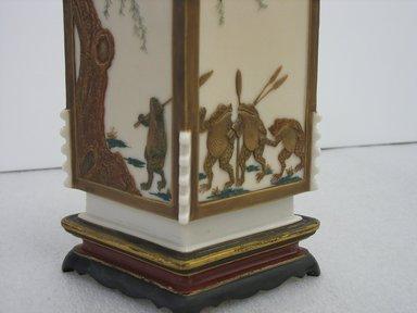James Hadley (British, 1837-1903). <em>Vase</em>, 1872. Porcelain, gilding, 10 1/4 x 6 1/2 x 4 1/4 in. (26 x 16.5 x 10.8 cm). Brooklyn Museum, Gift of Paul F. Walter, 2007.62.20. Creative Commons-BY (Photo: Brooklyn Museum, CUR.2007.62.20_detail.jpg)