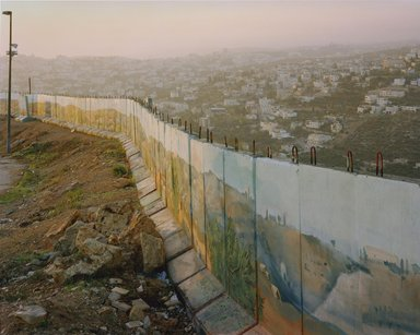 Simon Norfolk (British, born Nigeria, 1963). <em>Israeli Sniper Wall</em>, 2007. Chromogenic photograph, 40 x 50 in. (101.6 x 127 cm). Brooklyn Museum, Emily Winthrop Miles Fund, 2007.63.2. © artist or artist's estate (Photo: Photograph courtesy of the artist and Bonnie Berubi Gallery, CUR.2007.63.2_Bonnie_Berubi_Gallery_photo.jpg)