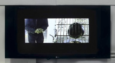 Nari Ward (Jamaican, born 1963). <em>Crusader</em>, 2006. Single channel video (DVD), loop, 38 minutes Brooklyn Museum, Purchased with funds given by Giulia Borghese, 2008.52.2. © artist or artist's estate (Photo: Brooklyn Museum, CUR.2008.52.2.jpg)