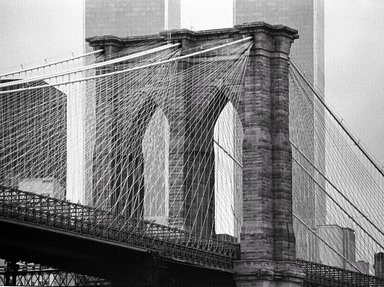 Richard Blair (American, born 1948). <em>Brooklyn Bridge</em>, 1981. Gelatin silver photograph, 16 x 20 in. (40.6 x 50.8 cm). Brooklyn Museum, Gift of the artist, 2008.60. © artist or artist's estate (Photo: Photograph courtesy of the artist, CUR.2008.60_artist_photograph.jpg)