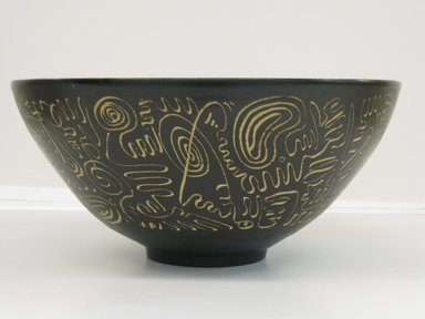Edwin Scheier (American, 1910-2008). <em>Bowl</em>, ca. 1960. Earthenware, 5 1/4 x 11 1/2 in. (13.3 x 29.2 cm). Brooklyn Museum, Gift in memory of Professor Elliot and Lillian Zupnick by their children, Judith Ellen and Henry David Zupnick, 2009.80.2. Creative Commons-BY (Photo: Brooklyn Museum, CUR.2009.80.2.jpg)