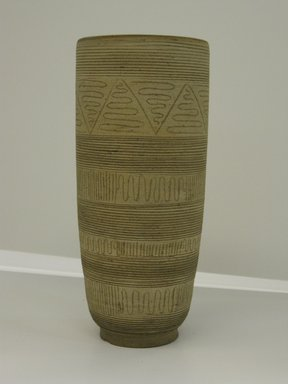 Edwin Scheier (American, 1910-2008). <em>Vase</em>, ca. 1960. Stoneware, 8 3/4 × 3 7/8 in. (22.2 × 9.8 cm). Brooklyn Museum, Gift in memory of Professor Elliot and Lillian Zupnick by their children, Judith Ellen and Henry David Zupnick, 2009.80.3. Creative Commons-BY (Photo: Brooklyn Museum, CUR.2009.80.3.jpg)