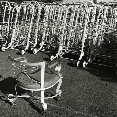 Arthur Tress (American, born 1940). <em>Chair and Chaise Lounge, NY</em>, 1981. Gelatin silver photograph, 11 x 14 in. (27.9 x 35.6 cm). Brooklyn Museum, Gift of William and Marilyn Braunstein, 2009.86.11. © artist or artist's estate (Photo: Brooklyn Museum, CUR.2009.86.11.jpg)