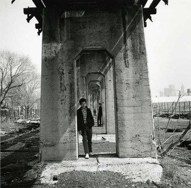 Arthur Tress (American, born 1940). <em>Three Boys Under an Aqueduct, Staten Island, NY</em>, 1970. Gelatin silver photograph, 11 x 14 in. (27.9 x 35.6 cm). Brooklyn Museum, Gift of William and Marilyn Braunstein, 2009.86.17. © artist or artist's estate (Photo: Brooklyn Museum, CUR.2009.86.17.jpg)