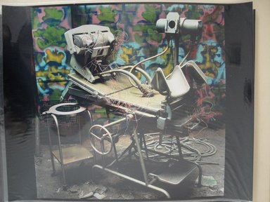 Arthur Tress (American, born 1940). <em>Robot Birth</em>, 1987. Cibachrome print, 16 x 20 in. (40.6 x 50.8 cm). Brooklyn Museum, Gift of William and Marilyn Braunstein, 2009.86.21. © artist or artist's estate (Photo: Brooklyn Museum, CUR.2009.86.21.jpg)
