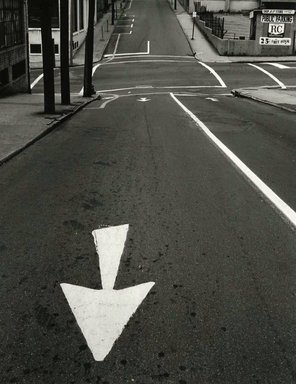 Arthur Tress (American, born 1940). <em>Street Arrow, Queens</em>, 1968. Gelatin silver photograph, 11 x 14 in. (27.9 x 35.6 cm). Brooklyn Museum, Gift of William and Marilyn Braunstein, 2009.86.3. © artist or artist's estate (Photo: Brooklyn Museum, CUR.2009.86.3.jpg)