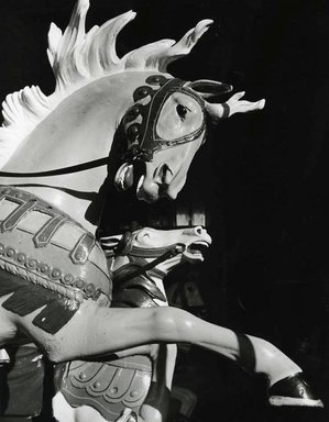 Arthur Tress (American, born 1940). <em>Merry-go-round, Coney Island, NY</em>, 1957. Gelatin silver photograph, image: 13 3/8 x 10 7/16 in. (34 x 26.5 cm). Brooklyn Museum, Gift of William and Marilyn Braunstein, 2009.86.4. © artist or artist's estate (Photo: Brooklyn Museum, CUR.2009.86.4.jpg)