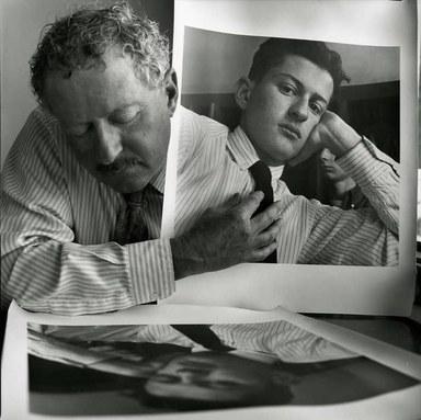 Arthur Tress (American, born 1940). <em>Double Self Portrait, Cambria, CA</em>, 1957-1995. Gelatin silver photograph, 11 x 14 in. (27.9 x 35.6 cm). Brooklyn Museum, Gift of William and Marilyn Braunstein, 2009.86.7. © artist or artist's estate (Photo: Brooklyn Museum, CUR.2009.86.7.jpg)