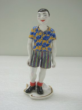 Ann Agee (American, born 1959). <em>Figure</em>, 1995/1997. Porcelain, 8 1/4 x 3 1/4 x 2 1/4 in. (21 x 8.3 x 5.7 cm). Brooklyn Museum, Gift of Joseph F. McCrindle in memory of J. Fuller Feder, by exchange, 2010.12.2. © artist or artist's estate (Photo: Brooklyn Museum, CUR.2010.12.2.jpg)