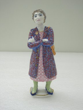 Ann Agee (American, born 1959). <em>Figure</em>, 1998/2002. Porcelain, 8 3/4 x 2 3/4 x 2 1/4 in. (22.2 x 7 x 5.7 cm). Brooklyn Museum, Gift of the artist, 2010.13.2. © artist or artist's estate (Photo: Brooklyn Museum, CUR.2010.13.2.jpg)