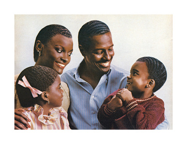 Hank Willis Thomas (American, born 1976). <em>Introducing New Extra Strength Fulla Waves for Course, Thick, and Unruly Hair 1982/2007</em>, 1982/2007. Digital print, 27 11/16 x 36 in. (70.3 x 91.4 cm). Brooklyn Museum, Mary Smith Dorward Fund and gift of Robert Smith, by exchange, 2010.18.15. © artist or artist's estate (Photo: Image courtesy of Charles Guice Contemporary, CUR.2010.18.15_Charles_Guice_Contemporary_photograph.jpg)