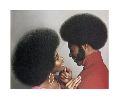 Hank Willis Thomas (American, born 1976). <em>A Natural Explosion!  Afro Sheen® Blowout Creme Relaxer 1973/2007</em>, 1973/2007. Digital print, 29 1/2 x 35 1/4 in. (74.9 x 89.5 cm). Brooklyn Museum, Mary Smith Dorward Fund and gift of Robert Smith, by exchange, 2010.18.6. © artist or artist's estate (Photo: Image courtesy of Charles Guice Contemporary, CUR.2010.18.6_HWT07.026_HR_Charles_Guice_Contemporary_photograph.jpg)