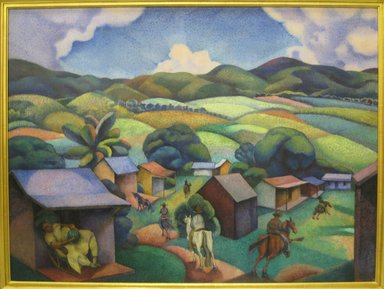 George Biddle (American, 1885-1973). <em>Cuban Landscape</em>, 1925. Oil on canvas, unframed: 30 x 40 in. (76.2 x 101.6 cm). Brooklyn Museum, Gift of Constance L. and Henry Christensen III, 2010.3.1. © artist or artist's estate (Photo: Brooklyn Museum, CUR.2010.3.1.jpg)