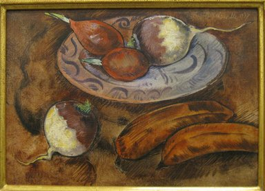 George Biddle (American, 1885-1973). <em>Turnips</em>, 1937. Oil on canvas, 10 x 14 in. (25.4 x 35.6 cm). Brooklyn Museum, Gift of Constance L. and Henry Christensen III, 2010.3.2. © artist or artist's estate (Photo: Brooklyn Museum, CUR.2010.3.2.jpg)