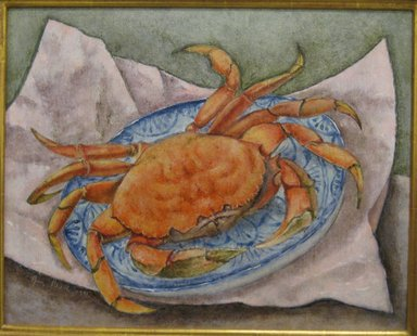 George Biddle (American, 1885-1973). <em>Giant Crab</em>, 1941. Oil on Masonite, 16 x 20 in. (40.6 x 50.8 cm). Brooklyn Museum, Gift of Constance L. and Henry Christensen III, 2010.3.3. © artist or artist's estate (Photo: Brooklyn Museum, CUR.2010.3.3.jpg)