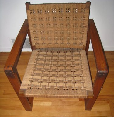 Unknown. <em>Armchair</em>, ca. 1950. Wood, fiber, 31 x 26 x 28 7/8 in. (78.7 x 66 x 73.3 cm). Brooklyn Museum, Gift of Miani Johnson honoring the friendship between Marcel Breuer and Marian and Dan Johnson