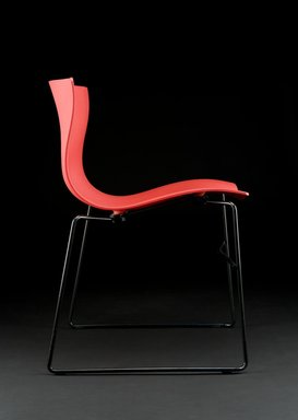 "Lella Vignelli (American, born Italy, 1934-2016). <em>""Handkerchief"" Chair</em>, Designed 1982-1987. Fiberglass-reinforced polyester, steel, 29 x 22 1/8 x 18 1/4 in. (73.7 x 56.2 x 46.4 cm). Brooklyn Museum, Gift of The Liliane and David M. Stewart Collection