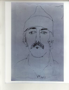 Ellsworth Kelly (American, 1923-2015). <em>Henry Persche</em>, 1974. Ink on scallop edged paper, sheet: 16 x 10 in. (40.6 x 25.4 cm). Brooklyn Museum, Gift of Henry Persche, 2010.69.1. © artist or artist's estate (Photo: Brooklyn Museum, CUR.2010.69.1.jpg)