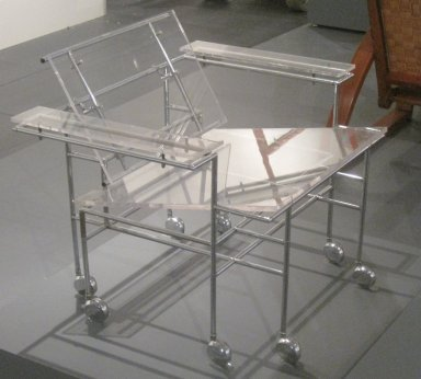 Paul Rudolph (American, 1918-1997). <em>Armchair</em>, Designed 1968. Chrome-plated steel, other metals, Lucite