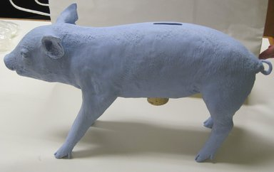 Harry Allen (American, born 1964). <em>Bank in the Form of a Pig</em>, 2004. Polyester resin, cork, 10 1/8 x 18 1/4 x 5 in. (25.7 x 46.4 x 12.7 cm). Brooklyn Museum, Gift of the artist, 2010.73. Creative Commons-BY (Photo: Brooklyn Museum, CUR.2010.73.jpg)