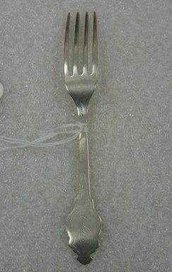 Hart Brothers, Brooklyn. <em>Child's Fork</em>, Patented 1867. Silver, 6 1/8 x 3/4 x 3/4 in. (15.6 x 1.9 x 1.9 cm). Brooklyn Museum, Gift of William Lee Younger in memory of Joseph A. Henehan, 2010.77.27. Creative Commons-BY (Photo: Brooklyn Museum, CUR.2010.77.27_back.jpg)