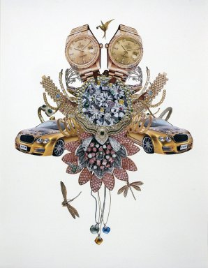 Rashaad Newsome (American, born 1979). <em>Status Symbols, #20</em>, 2009. Collage on paper, 30 x 22 1/8 in. (76.2 x 56.2 cm). Brooklyn Museum, Robert A. Levinson Fund, 2010.9. © artist or artist's estate (Photo: Photograph courtesy of Marlborough Gallery, NY, CUR.2010.9_Marlborough_Gallery_photo.jpg)