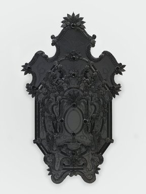 Fred Wilson (American, born 1954). <em>Iago's Mirror</em>, 2009. Murano glass, 80 x 48 3/4 x 10 1/2 in., 137 lb. (203.2 x 123.8 x 26.7 cm, 62.1kg). Brooklyn Museum, Purchased with funds given by John and Barbara Vogelstein, purchase gift of Stephanie and Tim Ingrassia, Arline and Norman Feinberg, Beverly and Steven A. Newborn, Sheila and Richard J. Schwartz, Leslie L. and Alan Beller, Barbara and Richard W. Moore, and Carla Shen  , 2011.11. © artist or artist's estate (Photo: Photography by Kerry Ryan McFate, courtesy The Pace Gallery, CUR.2011.11_front_Pace_photograph_49885_01_WILSON_v1.jpg)
