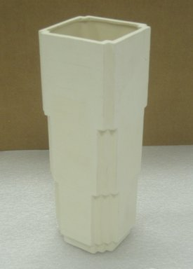 "Jason Miller (American, born 1971). <em>""Ogel"" Vase</em>, 2004. Glazed and unglazed earthenware, 9 7/8 x 3 7/16 x 3 7/16 in. (25.1 x 8.7 x 8.7 cm). Brooklyn Museum, Gift of Jason Miller, 2011.16.15. Creative Commons-BY (Photo: Brooklyn Museum, CUR.2011.16.15.jpg)"
