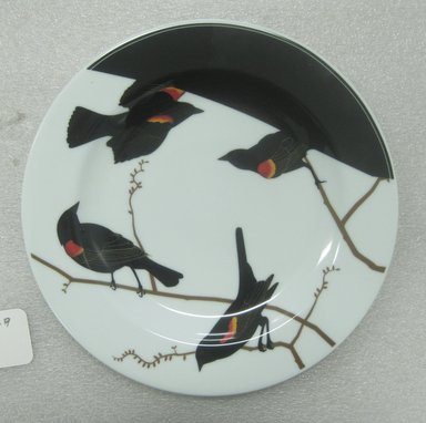 Jason Miller (American, born 1971). <em>Seconds Plate Large</em>, 2004. Glazed earthenware, 1 x 10 3/4 in. (2.5 x 27.3 cm). Brooklyn Museum, Gift of Jason Miller, 2011.16.9. Creative Commons-BY (Photo: Brooklyn Museum, CUR.2011.16.9.jpg)