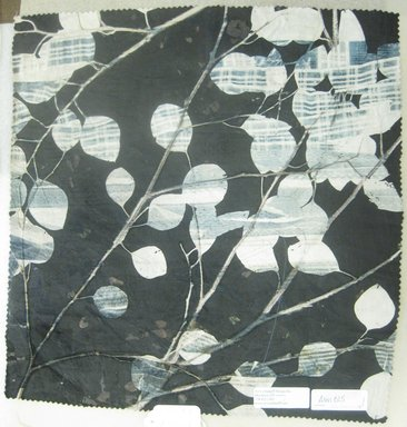 Aviva Stanoff (American, born 1972). <em>Chanel Collection/Tuxedo Eucalyptus</em>, 2003. Velvet, 19 1/2 x 18 3/4 in. (49.5 x 47.6 cm). Brooklyn Museum, Gift of the artist in memory of Yamagishi Shigeru