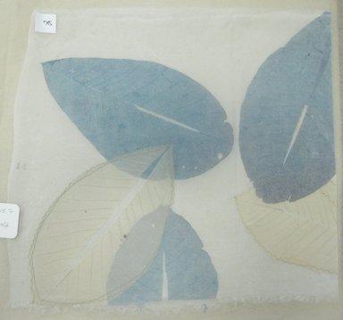 Aviva Stanoff (American, born 1972). <em>Honeymoon Leaves</em>, 1999. Silk organza, skeleton leaves, and stitching, 16 7/8 x 15 1/2 in. (42.9 x 39.4 cm). Brooklyn Museum, Gift of the artist in honor of Morimoto Taeko , 2011.19.7. © artist or artist's estate (Photo: Brooklyn Museum, CUR.2011.19.7.jpg)
