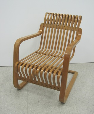 Charlotte Perriand (French, 1903-1999). <em>Armchair</em>, 1940. Bent bamboo plywood, 31 3/4 x 22 3/4 x 31 1/2 in. (80.6 x 57.8 x 80 cm). Brooklyn Museum, Gift of Mr. and Mrs. William E. Baker and John D. Rockefeller III, by exchange, 2011.58.2. Creative Commons-BY (Photo: Brooklyn Museum, CUR.2011.58.2.jpg)