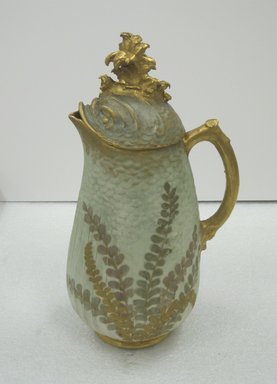 William Lycett (American, born England, 1855-1909, active late 19th century). <em>Coffee Pot with Lid</em>, ca. 1895. Porcelain, 12 x 5 x 6 1/2 in. (30.5 x 12.7 x 16.5 cm). Brooklyn Museum, Harold S. Keller Fund, 2011.58.3a-b. Creative Commons-BY (Photo: Brooklyn Museum, CUR.2011.58.3a-b.jpg)