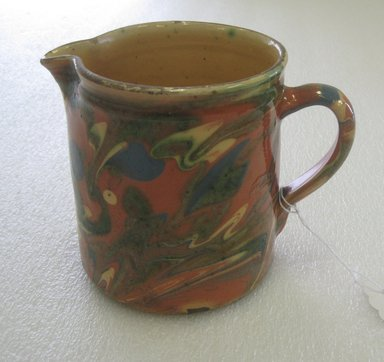 <em>Jug</em>, late 19th-early 20th century. Glazed earthenware, 4 5/8 x 6 x 4 5/16 in. (11.7 x 15.2 x 11 cm). Brooklyn Museum, Gift of Susan M. Yecies, 2011.59.2. Creative Commons-BY (Photo: Brooklyn Museum, CUR.2011.59.2.jpg)