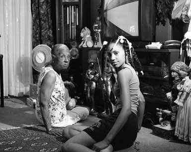 LaToya Ruby Frazier (American, born 1982). <em>Grandma Ruby and Me</em>, 2005. Gelatin silver photograph, sheet: 15 1/2 x 18 1/2 in. (39.4 x 47 cm). Brooklyn Museum, Emily Winthrop Miles Fund, 2011.63.1. © artist or artist's estate (Photo: Image courtesy of the artist, CUR.2011.63.1_artist_photograph.jpg)