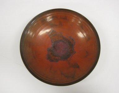 Gertrud Natzler (American, born Austria, 1908-1971). <em>Footed Bowl</em>, ca. 1958. Glazed earthenware Brooklyn Museum, Gift of Nancy and Wayne Hunnicutt, 2011.81. Creative Commons-BY (Photo: Brooklyn Museum, CUR.2011.81.jpg)