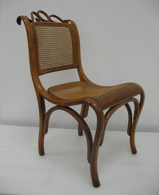 Gebrüder Thonet. <em>Side Chair, Model No. 46</em>, ca. 1880. Copper beech and modern cane, 33 1/4 x 17 3/4 x 22 in. (84.5 x 45.1 x 55.9 cm). Brooklyn Museum, Gift of Penelope Hunter-Stiebel and Gerald G. Stiebel, 2011.83. Creative Commons-BY (Photo: Brooklyn Museum, CUR.2011.83.jpg)