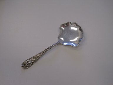 Stieff Company. <em>Berry Spoon, Rose Pattern</em>, designed 1892. Silver, 5 5/16 x 2 1/8 x 1/2 in. (13.5 x 5.4 x 1.3 cm). Brooklyn Museum, Gift of Pamela and Arnold Lehman, 2012.13.1. Creative Commons-BY (Photo: Brooklyn Museum, CUR.2012.13.1.jpg)