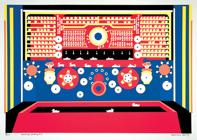 Philomena Marano (American, born 1952). <em>Shooting Gallery #2</em>, 1979. Serigraph, 29 3/8 x 41 13/16 in. (74.6 x 106.2 cm). Brooklyn Museum, Gift of the artist, 2012.43.1. © artist or artist's estate (Photo: Image courtesy of Philomena Marano, CUR.2012.43.1_PhilomenaMarano.jpg)