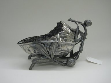 Meriden Silver Company, a division of International Silver Co. (American, founded 1898). <em>Nut Bowl</em>, ca. 1880s. Silverplate, approx.: 7 1/2 x 6 1/2 x 13 in. (19.1 x 16.5 x 33 cm). Brooklyn Museum, Gift of Sarah Eigen, 2012.60.6. Creative Commons-BY (Photo: Brooklyn Museum, CUR.2012.60.6.jpg)