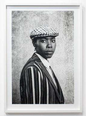 Zanele Muholi (South African, born 1972). <em>Sunday Francis Mdlankomo, Vosloorus, Johannesburg</em>, 2011. Gelatin silver photograph, sheet: 33 7/8 × 23 7/8 in. (86 × 60.6 cm). Brooklyn Museum, Robert A. Levinson Fund, 2012.72.1. © artist or artist's estate (Photo: Image courtesy of Yancey Richardson Gallery, CUR.2012.72.1_Yancey_Richardson_Gallery_photograph.jpg)