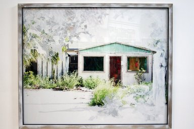 Michael Loveland (American, born 1973). <em>Utopia House</em>, 2011. Photograph and collage, 64 x 52 in. (162.6 x 132.1 cm). Brooklyn Museum, Gift of the Lanster Family Collection and Diana Lowenstein, 2012.83. © artist or artist's estate (Photo: Image courtesy of Diana Lowenstein Gallery, CUR.2012.83_Diana_Lowenstein_Gallery_photograph.jpg)